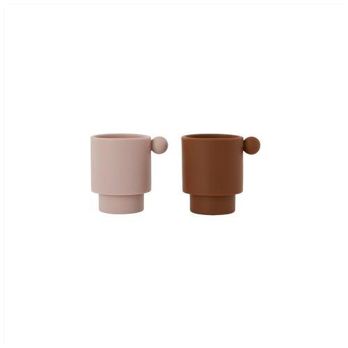 OYOY living design Tiny inka cup caramel/rose