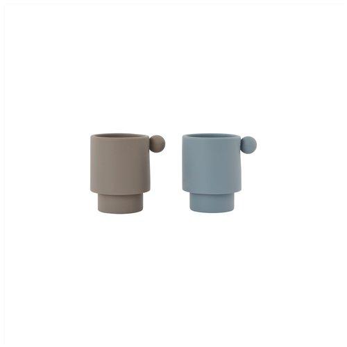 OYOY living design Tiny inka cup dusty blue/clay