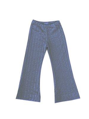 Long live the queen Ribvelvet pants stone blue 937