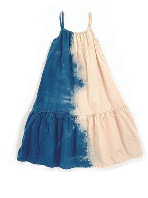 Long live the queen Wide dress 918 blue dipdye