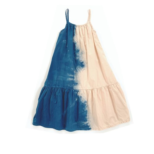 Long live the queen Wide dress 918 blue dipdye