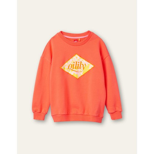 oilily Heritage sweatert hot coral artwork paisley logo