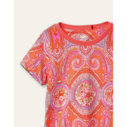 oilily Tof T-shirt  Paisley city rose hot coral