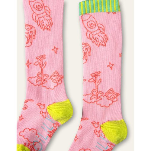 oilily Marujita knee socks  two-tone soft pink