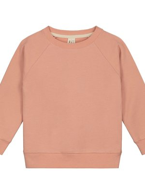 Gray label Crewneck sweater rustic clay
