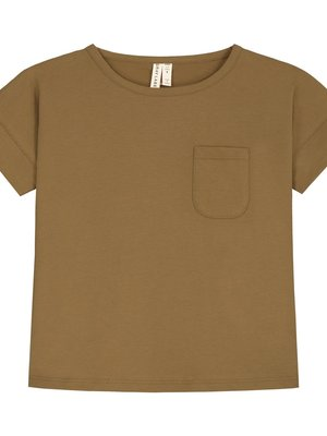 Gray label Boxy tee peanut