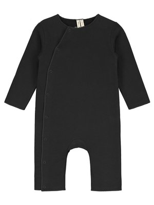 Gray label Baby suit with snaps nearly black