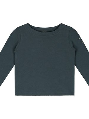 Gray label Baby L/S tee blue grey