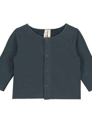 Gray label Baby cardigan blue grey
