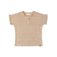 Be Tshirt Stripe Dust Caramel