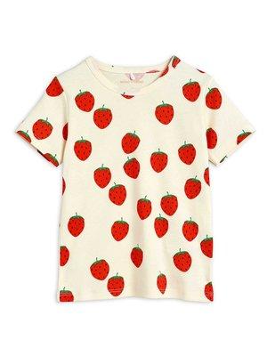 Mini rodini Strawberry aop ss tee