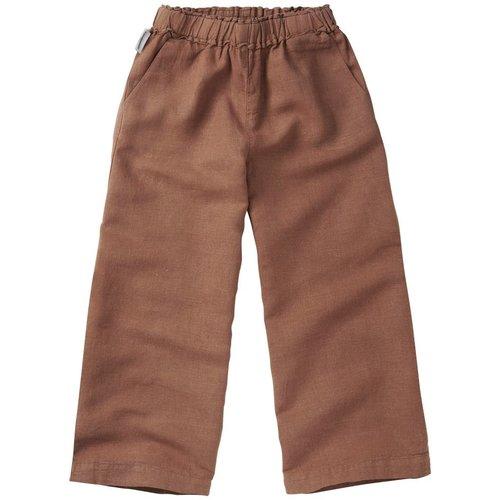 mingo Linen Wide Pants Warm Earth