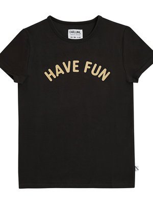 CarlijnQ Have fun t-shirt with print black