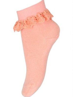 MP Denmark Filippa socks with lace Guava 4272