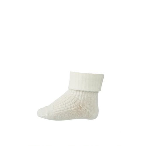 MP Denmark Cotton rib baby socks Snow White 432
