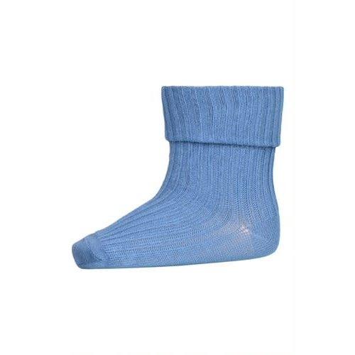 MP Denmark Cotton rib baby socks Captains Blue 827
