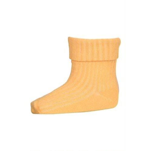 MP Denmark Cotton rib baby socks Ochre  4098