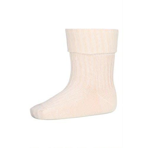 MP Denmark Cotton rib baby socks 4109Ecru