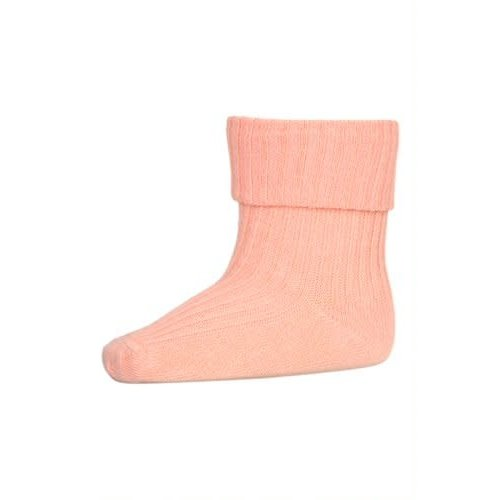 MP Denmark Cotton rib baby socksGuava 4272
