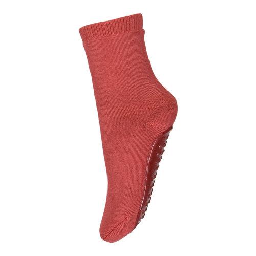 MP Denmark Cotton socks with anti-slip 4270  Marsala