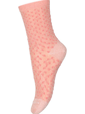 MP Denmark Sonia glitter socks Guava 77193