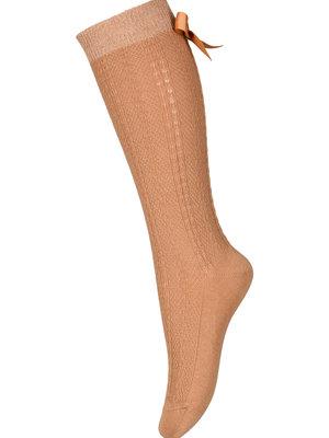 MP Denmark Sofia knee socks with bow 67005 Apple Cinnamon