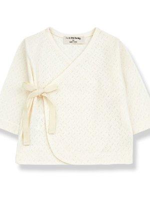 1+ in the family ANNIE newborn t-shirt ecru
