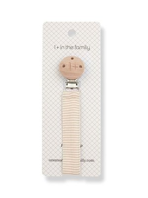 1+ in the family ADA pacifier clip beige
