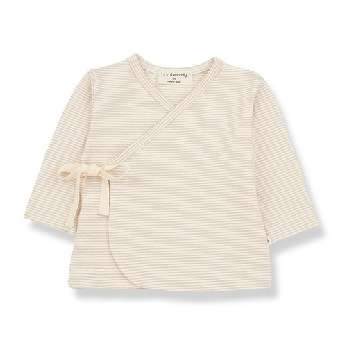 1+ in the family SOL newborn t-shirt beige