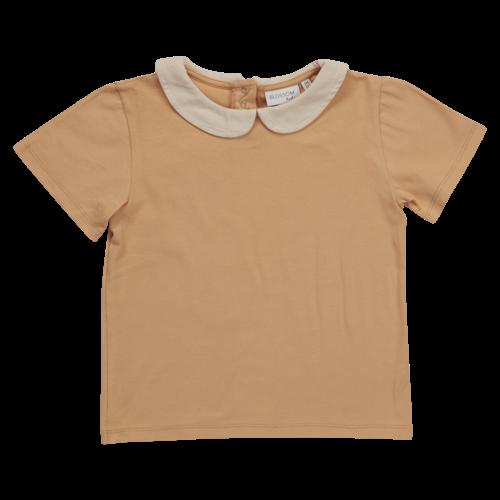 Blossom kids Peterpan shirt short sleeve - Baked Clay