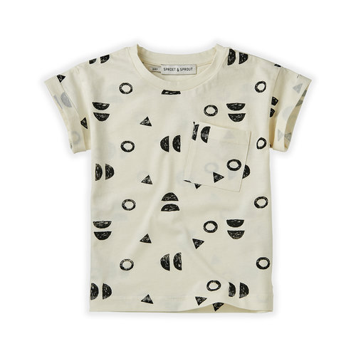Sproet&Sprout T-shirt Print Abstract White S21-708