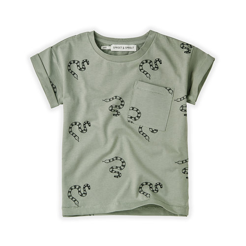 Sproet&Sprout T-shirt Print Snake S21-714