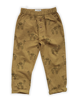 Sproet&Sprout Woven Pants Camel Print S21-777