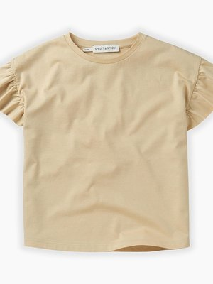 Sproet&Sprout T-shirt Ruffle Sesame SS-208