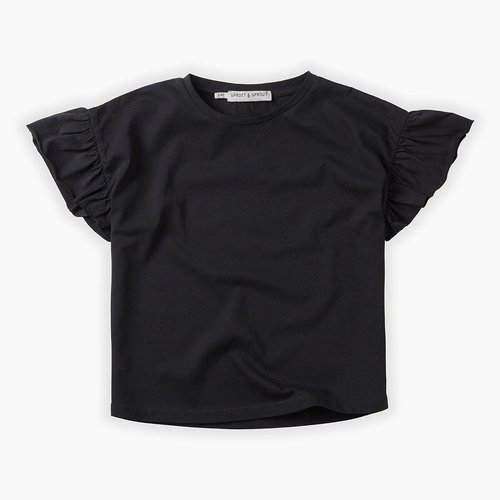 Sproet&Sprout T-shirt Ruffle Black SS-027
