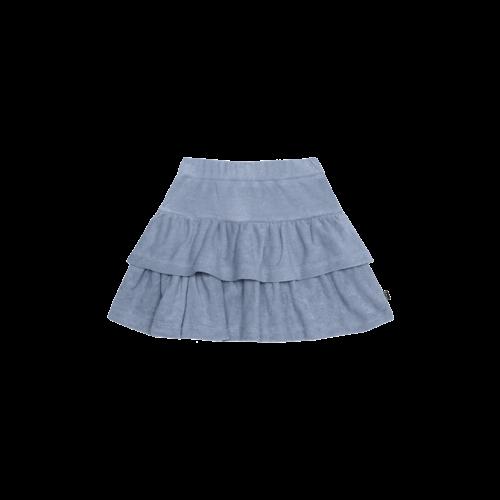 House of Jamie Ruffled skirt faded denim