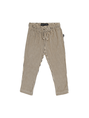 House of Jamie Straight pants charcoal sheer stripes