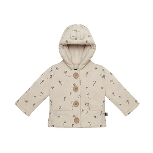 House of Jamie Bow tie hooded jacket oatmeal kites