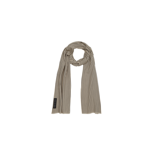 House of Jamie Long summer scarf charcoal sheer stripes