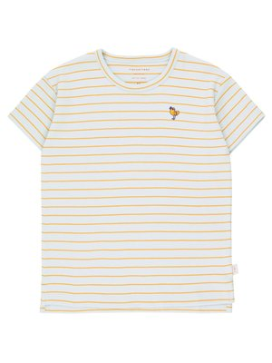 Tiny cottons BIRD STRIPES TEE *light blue grey/honey*