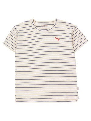 Tiny cottons TINY STRIPES TEE *light cream/iris blue*