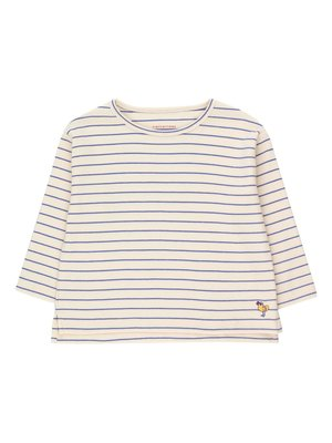 Tiny cottons BIRD STRIPES CROP TEE