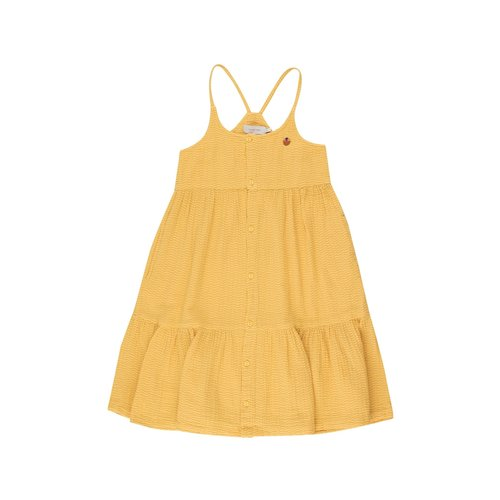 Tiny cottons WAVES STRAPS DRESS *yellow/iris blue*