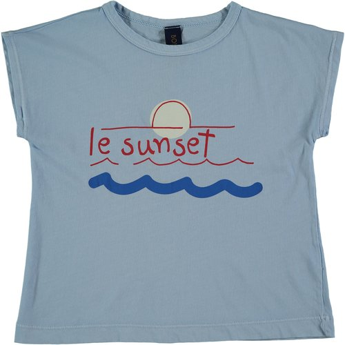 Bonmot T-shirt le sunset light blue