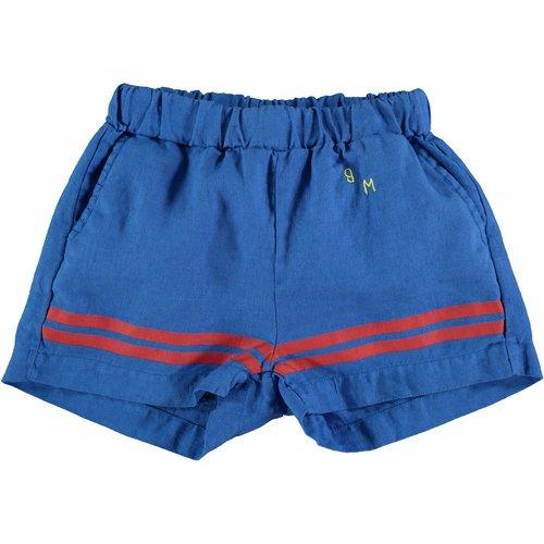 Bonmot Short linen bottom stripes