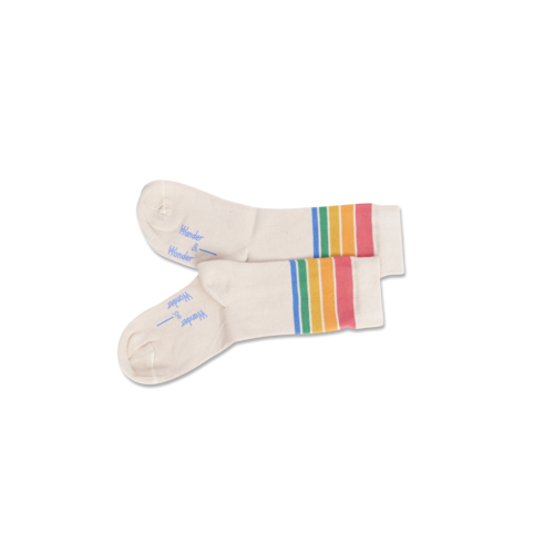 Wander & Wonder Rainbow stripe socks