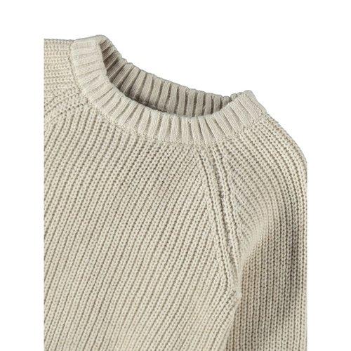 Lil' Atelier Luna knit loose fit  sweater apple turtledove