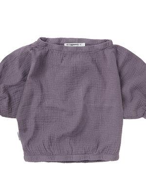 mingo Muslin cropped top lavender