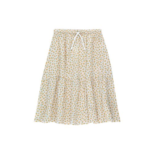 Tiny cottons Small flowers long skirt