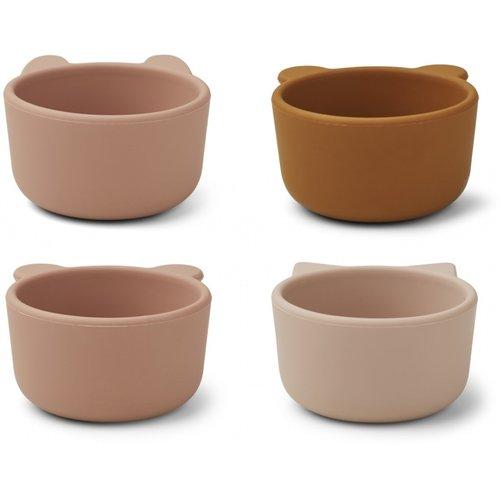 Liewood Malene silicone bowl roze kat